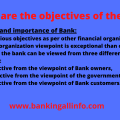 Objectives of the Bank