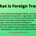 What is Foreign Trade?