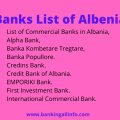 Banks List of Albenia