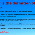 What is the definition of a Bank