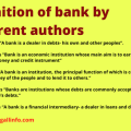 Definition of bank by different authors