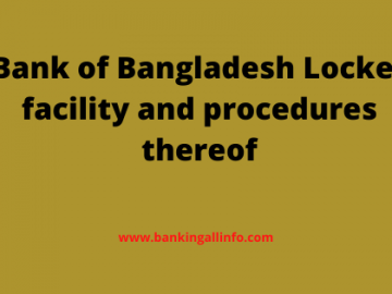 Bank of Bangladesh Locker facility and procedures thereof