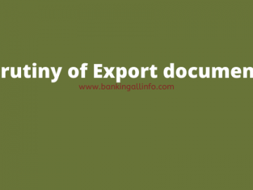 Scrutiny of Export documents