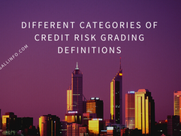 Different categories of credit risk grading definitions