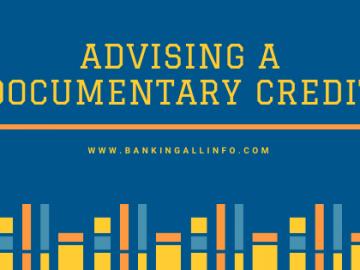 Advising a documentary credit