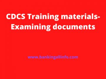 CDCS Training materials-Examining documents