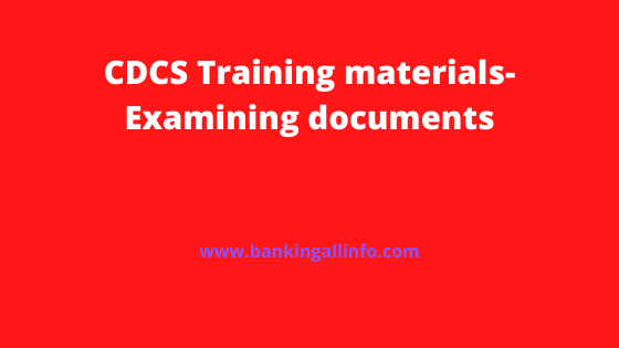 CDCS Training materials-Examining documents