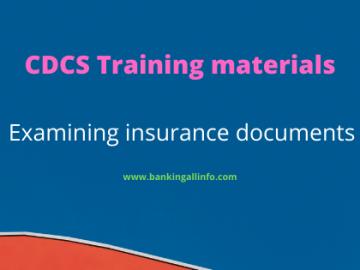 Examining insurance documents