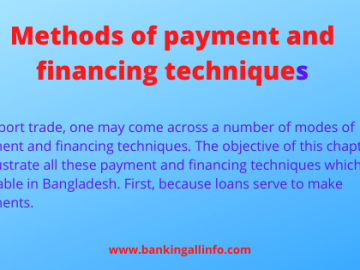 Methods of payment and financing techniques