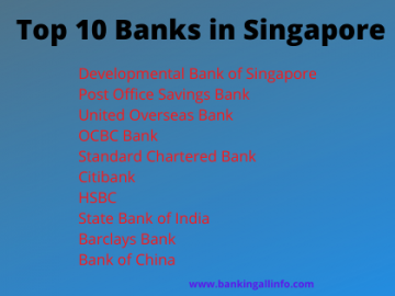 Top 10 Banks in Singapore