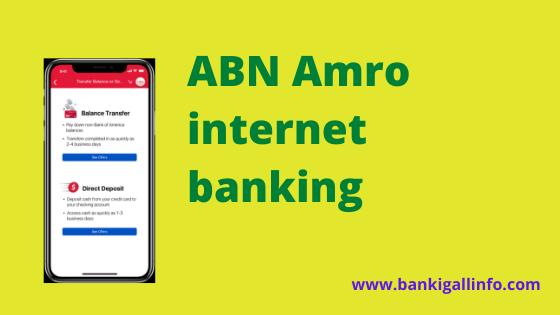 ABN Amro internet banking
