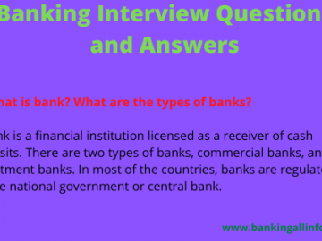 Banking Interview Questions and Answers