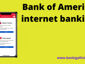 Bank of America internet banking