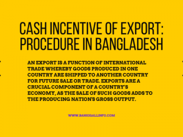 Cash Incentive of Export_ Procedure in Bangladesh