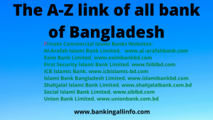 The A-Z link of all bank of Bangladesh