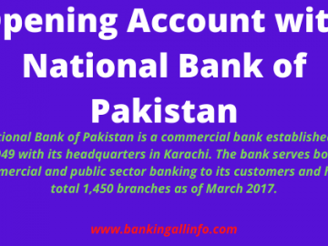 Opening Account with National Bank of Pakistan