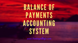 Balance of payments accounting system