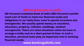SBI Personal Loan in India