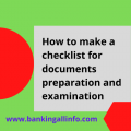 How to make a checklist for documents preparation and examination