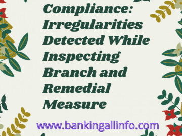 Shariah Compliance_ Irregularities Detected While Inspecting Branch and Remedial Measure