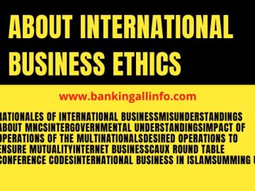About International Business Ethics