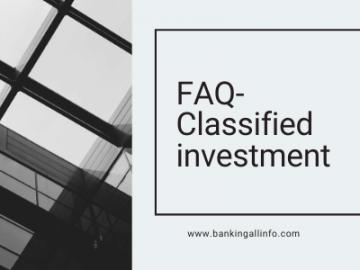 FAQ- Classified investment (1)